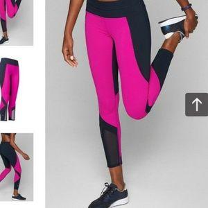 Athleta Electric Fuchsia Colorblock Sonar Tight